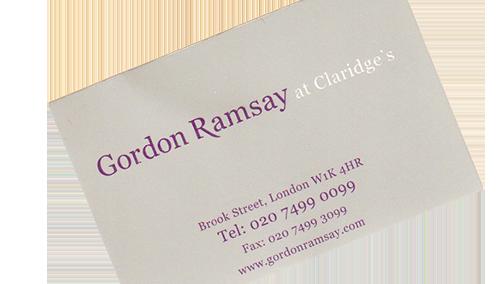 Gordon Ramsay at Claridge's - das ist Geschichte