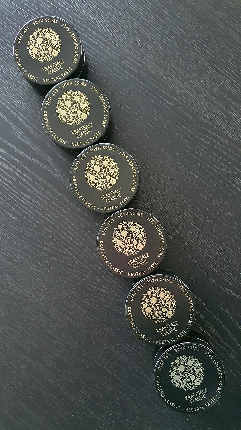 Weisses Gold - Kraftsalz Classic mit Blattgold und Kraft vermengt. Für alle Feinschmecker und Liebhaber von Fine Dining.