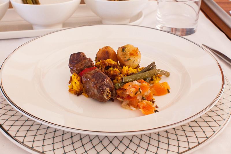 Fine Dining über den Wolken, Oman Air, Business Class