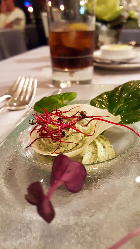 Restaurant Arté al Lago - Röllchen von rohen Krevetten und Thunfisch