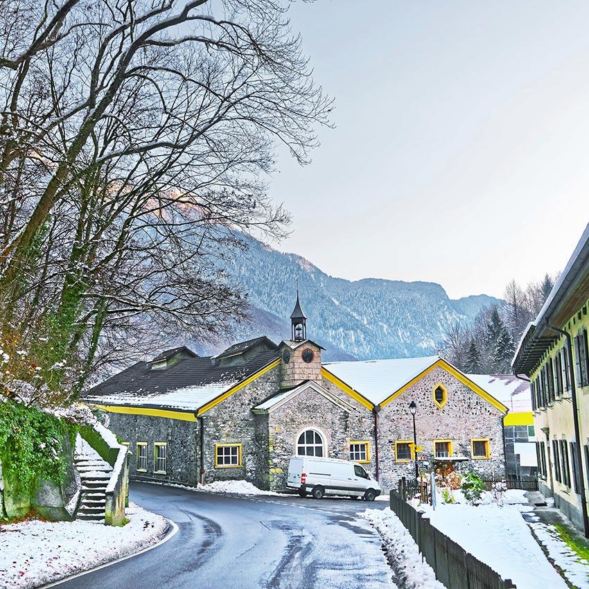 Schweizer Salinen in Bex. Unter den Komponenten ist Sel Des Alpes die erste Komponente überhaupt