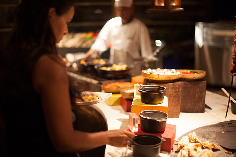 Am Buffet im Grill Restaurant