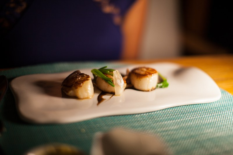 W Retreat and Spa Malediven, Fish Restaurant, scallops